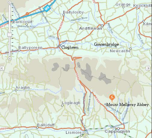 Mount-Melleray-Map