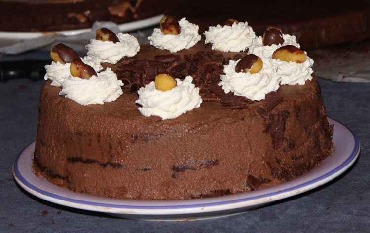 Eileen Condon's Completed Chocolate Mousse Layer Cake