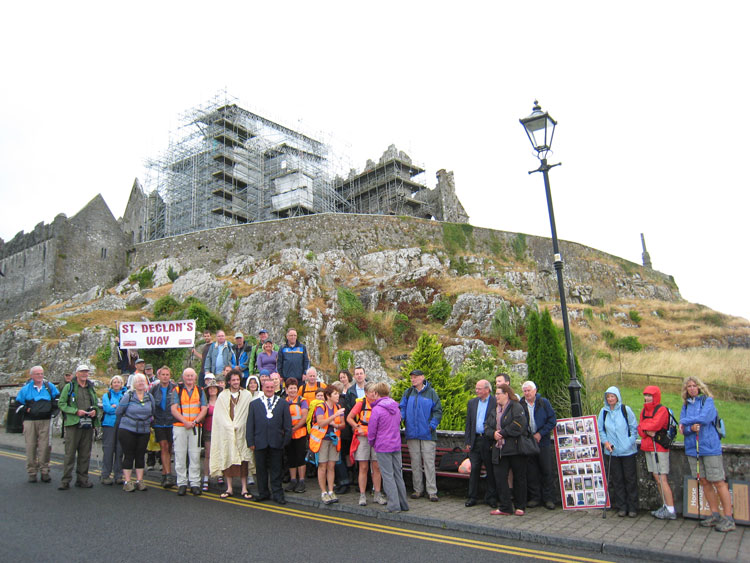 St.-Declan's-Way-Walk-Group-at-Rock-of-Cashel