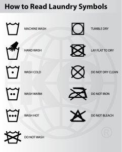 How read laundry symbol