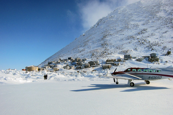 Diomede, from the runway
