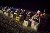 Mushers' feed bags and supplies, White Mountain