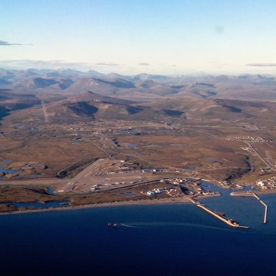 An aerial view of Nome. Photo: David Dodman, KNOM.