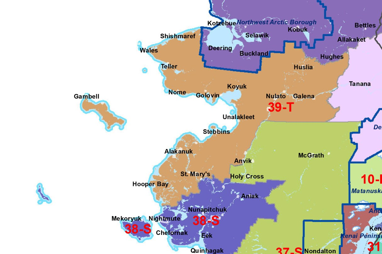 House District 39, covering the Bering Strait/Norton Sound. Image: Alaska Division of Elections.