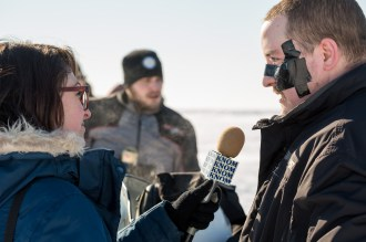Post-race interviews, Nome-Golovin 2015