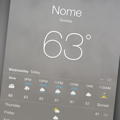 Smoke in Nome's weather forecast