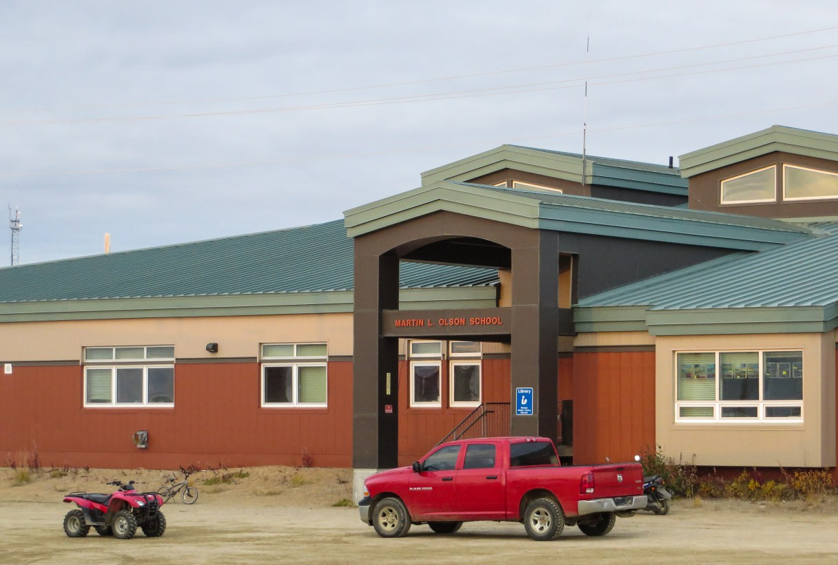 The Martin L. Olson School in Golovin will receive new video conferencing equipment —as will the other 14 BSSD schools and the district office. Photo: Laura Kraegel, KNOM.