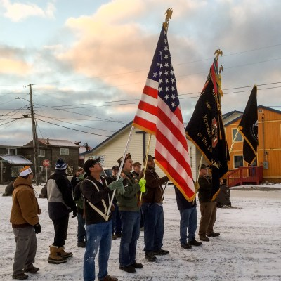 Nome residents prep for 2015 Veterans Day parade