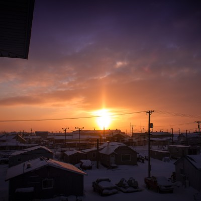 "A ""sun dog"" over Nome"