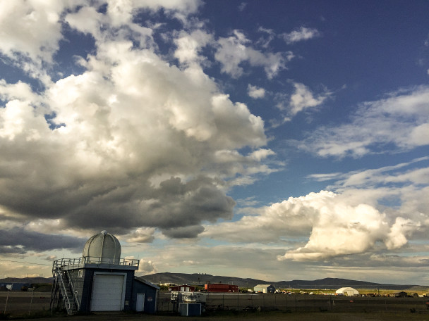 Skies over the Nome airport