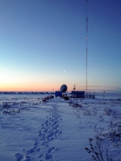 KNOM's AM transmitter site