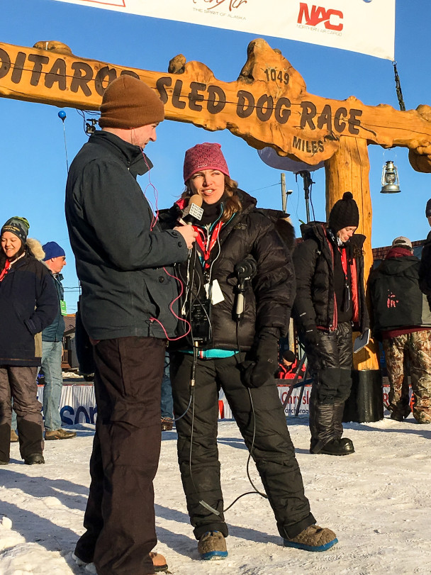 Mitch and Emily cover an Iditarod 2016 musher's finish