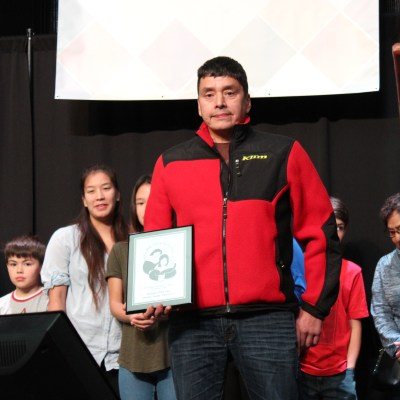 Okleasik received the AFN Parent of the Year Award at the 2017 Alaska Federation of Natives Convention.