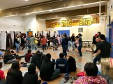 Students at the 2017 BSSD Youth Leaders retreat in Unalakleet danced with the King Island Dance Group and the Nome-St. Lawrence Island Dance Group.