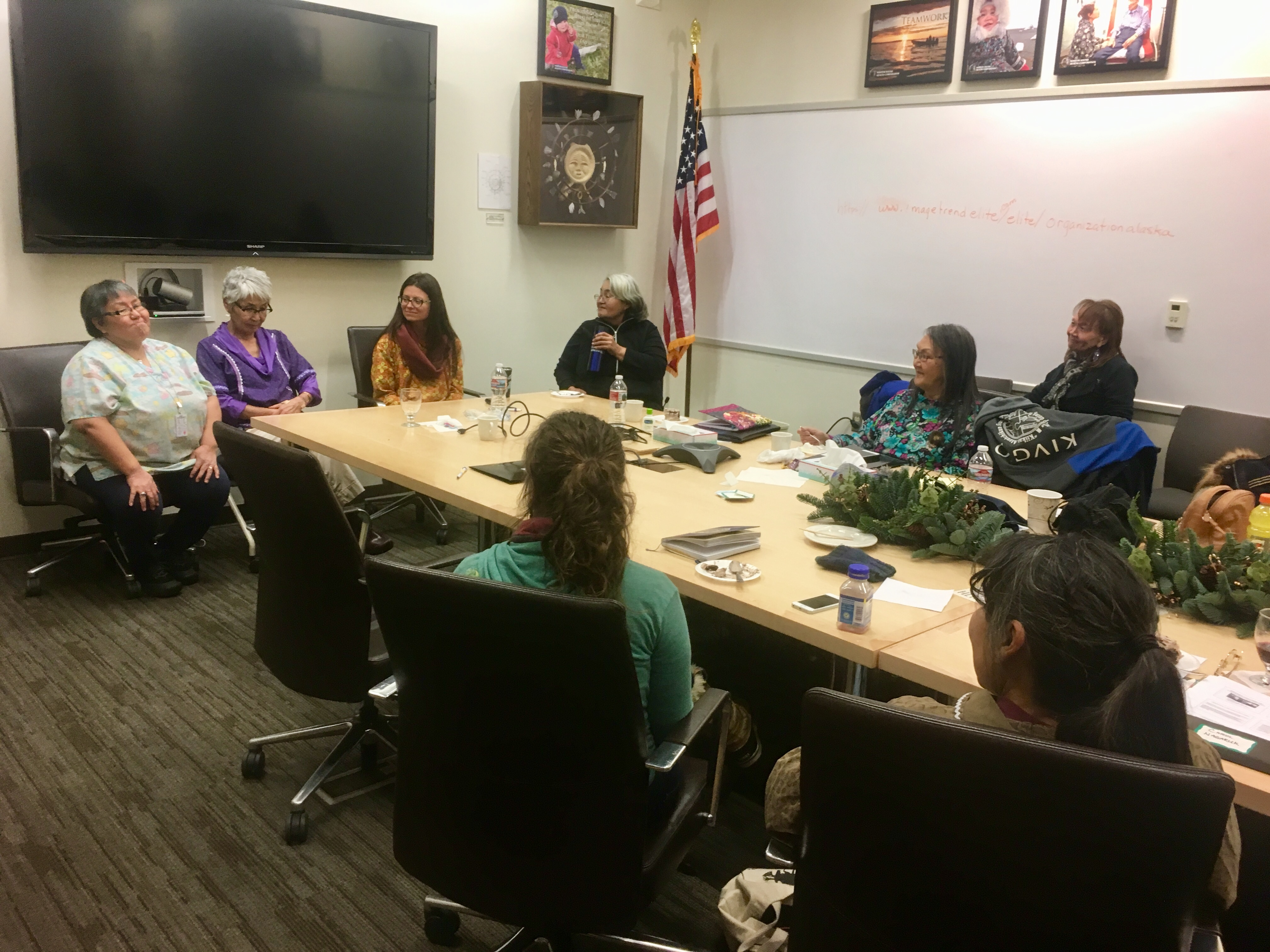 Traditional healers spoke on a panel at the the 2nd Norton Sound Indigenous Women's Gathering, held at NSHC in Nome in December 2017.