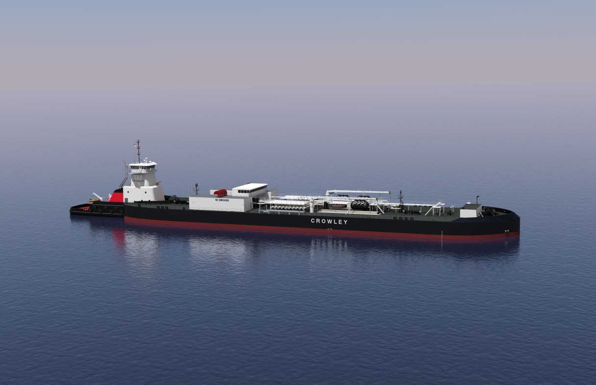 New ATB to be constructed for Alaskan waters. Crowley expects it to begin deliveries in late 2019. Photo: Used with permission from Crowley Fuels (2018)