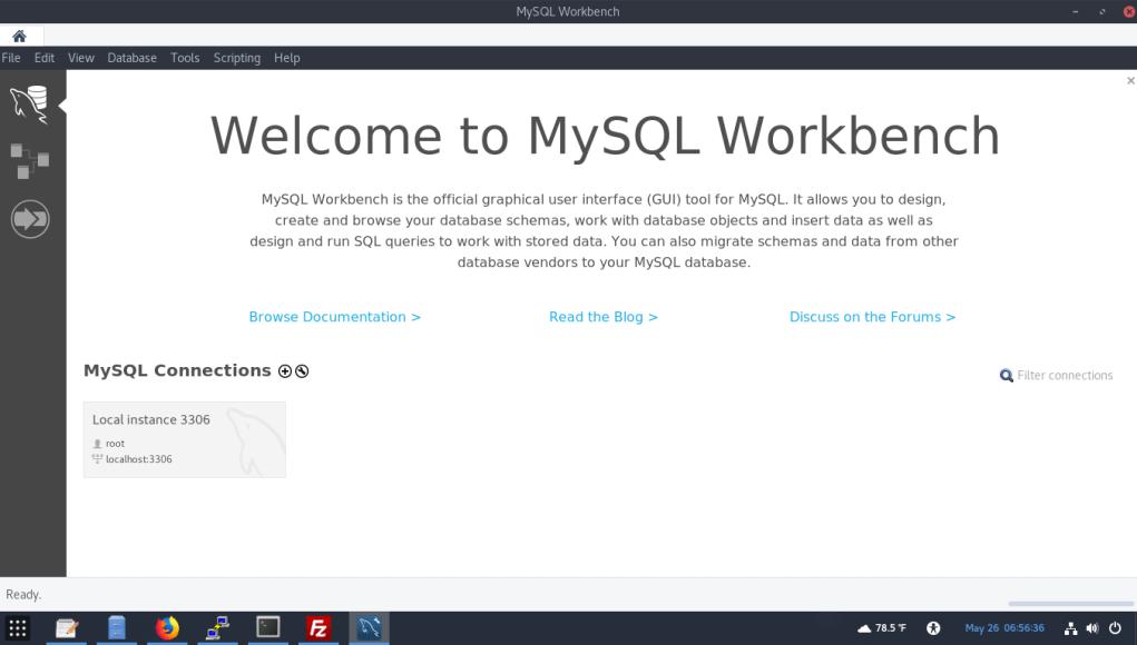 MySQL Workbench 8.0.20