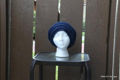 Blue BackPost Slouch Beanie
