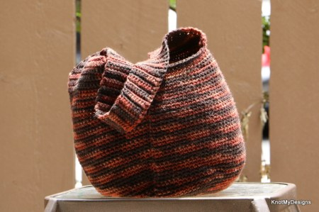 Crochet Ombre Yarn Hobo Beach Bag Free Pattern for any Beach/Summer Day with Boho Look - Knot My Designs