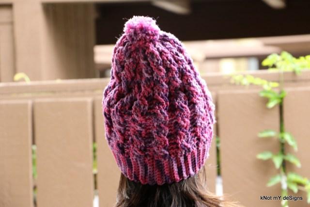 Winter / Fall Seasoned Crochet Mom-Daughter Urban Slouchy Hat Free Pattern - kNot mY deSigns