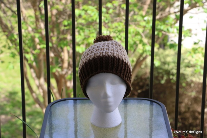 Winter / Fall Seasoned Crochet Waffle Look Beanie Free Pattern for children, adult woman, everyone - kNot mY deSigns