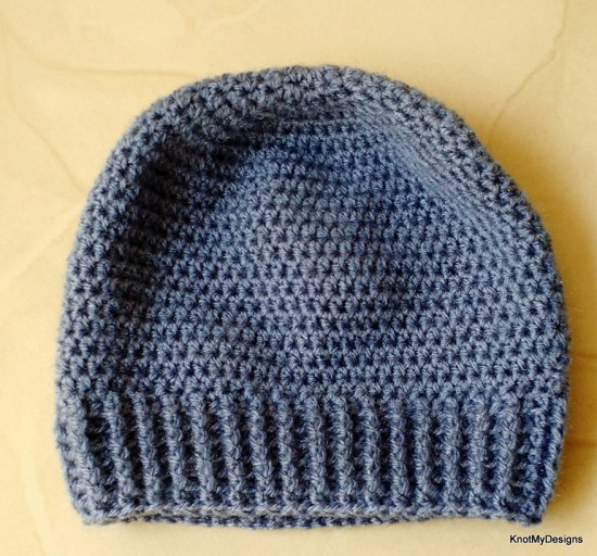 Crochet Ribbedenim Beanie for Kids Free Pattern - Knot My Designs