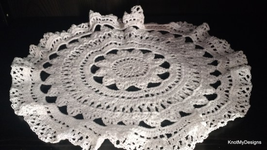 Crochet Mediterranean Doily Free Pattern for home decor - Knot My Designs