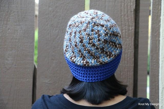 Winter/Fall Seasoned Crochet Earthy Sky Beanie Free Pattern for an adult woman - kNot mY deSigns