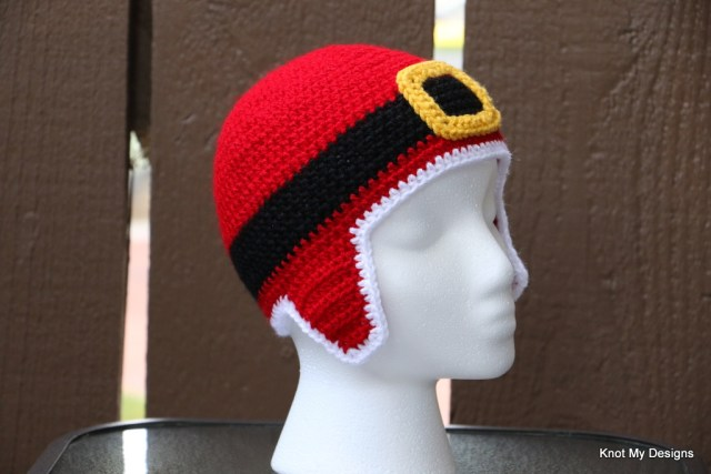 Crochet Santa Sons Earflap Hat for Toddler - Knot My Designs