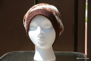 Crochet Winter/Fall Seasoned Mix-Match Slouchy Beanie free pattern for an adult woman - Knot My Designs