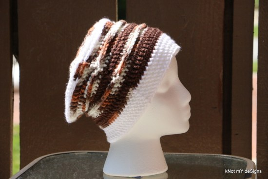 Winter/Fall Seasoned Crochet Sylvan Slouch Hat free Pattern for an adult woman - kNot mY deSigns