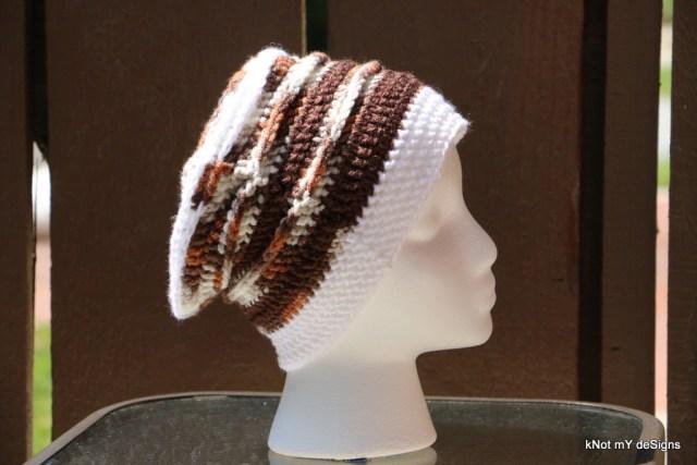 Winter/Fall Seasoned Crochet Sylvan Slouch Hat free Pattern for an adult woman - kNot mY deSigns