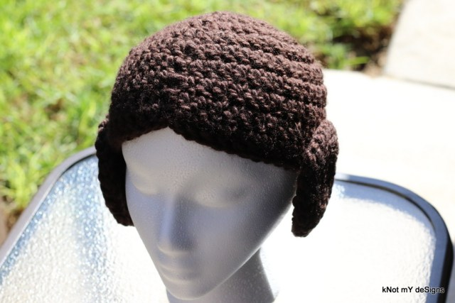 Crochet Adult Star Wars Leia Hat for an adult woman - kNot mY deSigns