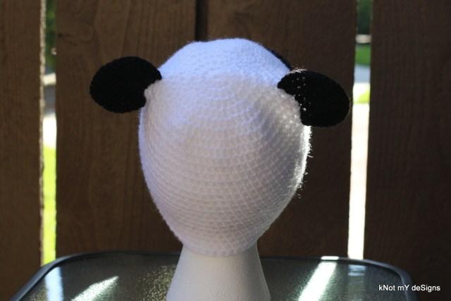Winter/Fall Seasoned Crochet Toddler's Panda Hat Free Pattern - kNot mY deSigns