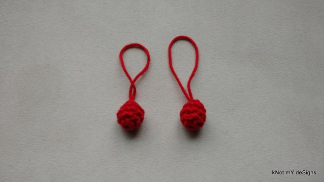 Crochet Key Tag Miniature Ball - Knot My Designs
