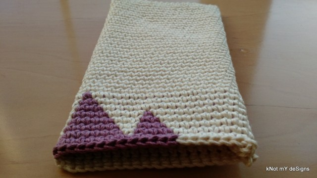 Crochet Contemporary Triangles Cell Phone Wristlet Pouch Free Pattern - kNot mY deSigns