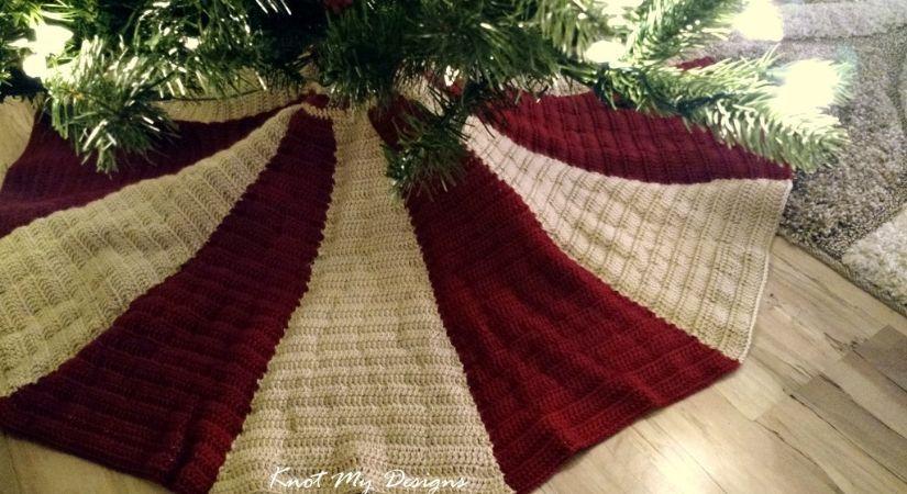 Christmas Tree Skirt Patterns Free.Crochet Christmas Tree Skirt Knot My Designs