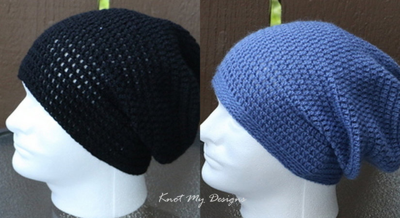 Crochet Mens Slouch Beanie Knot My Designs