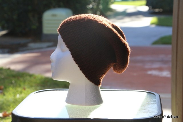 Winter /Fall Seasoned Crochet Bosnian Long Beanie for an adult woman - kNot mY deSigns