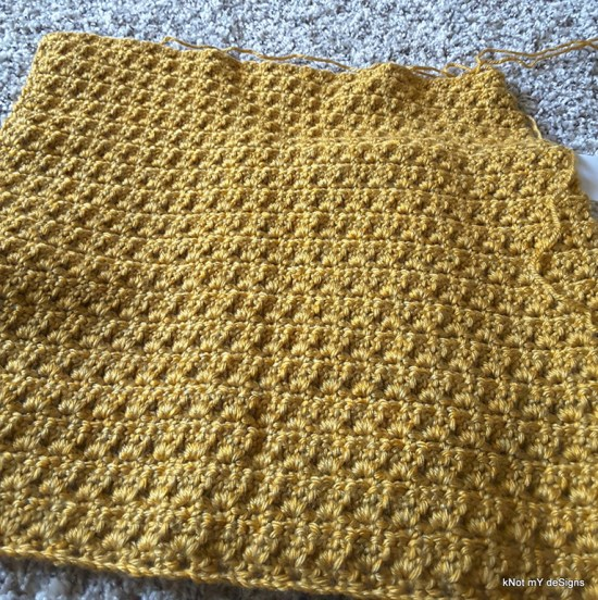 Crochet Yellowstone Wraparound Shawl for an adult woman - Knot My Designs