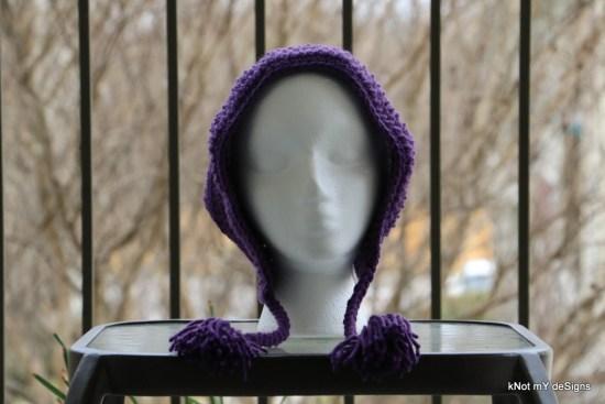 Winter / Fall Seasoned Crochet Tasseled Slouchy Bonnet Hat Free Pattern for an adult woman - kNot mY deSigns