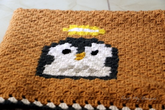 Crochet C2C Penguin Mood - Being Angel 25x25 Grid - Knot My Designs