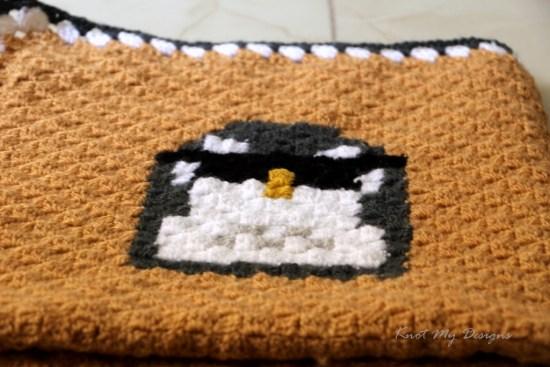 Crochet C2C Penguin Mood - Cool Dude 25x25 Grid - Knot My Designs