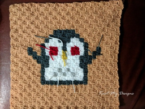 Crochet C2C Penguin Mood - Lovey Dovey 25x25 Grid - Knot My Designs
