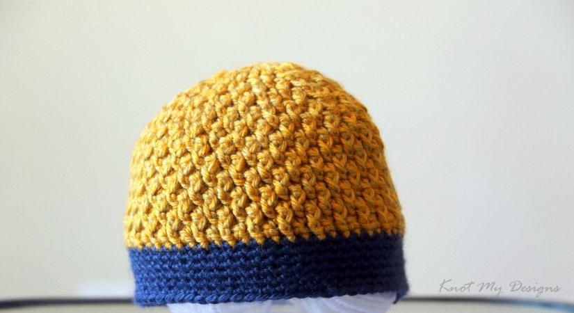 Texture Weave Newborn Beanie Knot My Designs