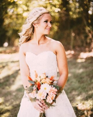 Bridal Portrait with Pops of Orange