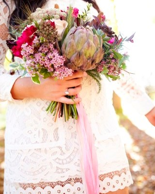 Bridal Bouquet with Pinks, Whites, and Natural Accents