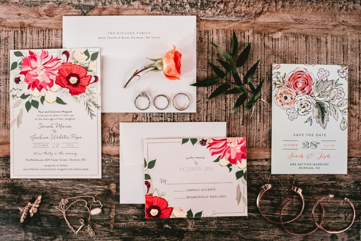 Wedding Floral Invites