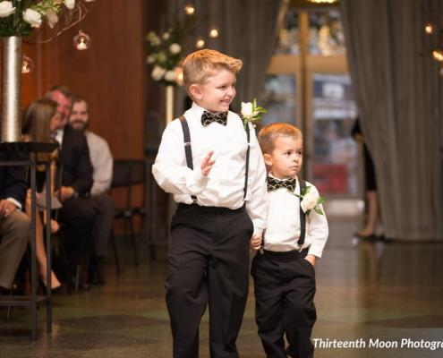 KNS shares picture of Ringbearers with Bowties at 21C Museum Hotel