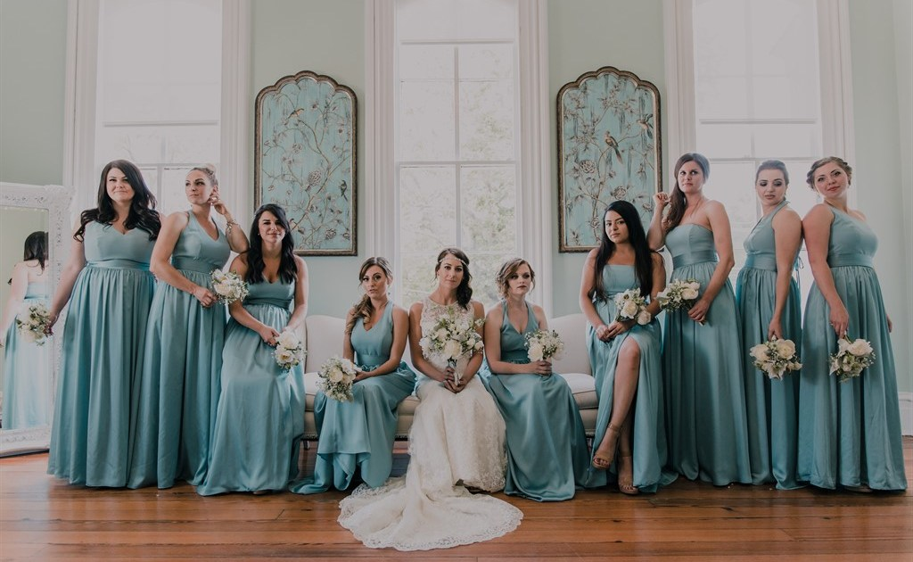 Bridal Party Serious Pose
